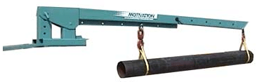 Forklift Craneboom attachment extended
