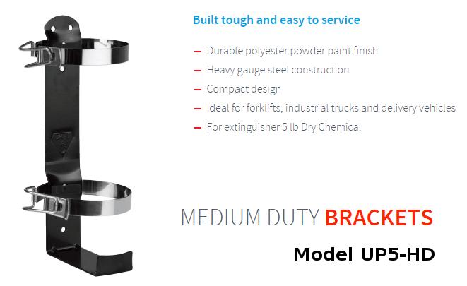 UP5-HD fire extinguisher bracket