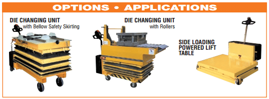 Self propelled table options