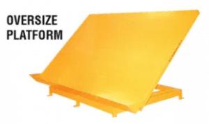 Oversized platform - tilt tables
