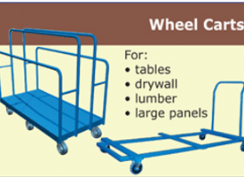 Canway wheel carts button