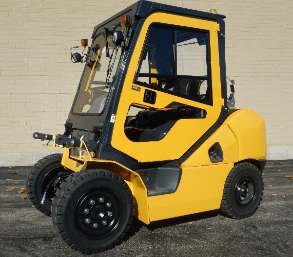 Komatsu Forklift with cab